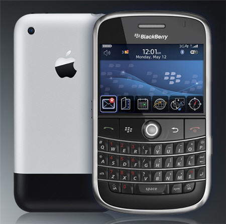 iPhone y BlackBerry